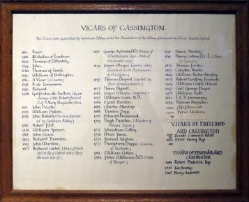 Vicars of Cassington